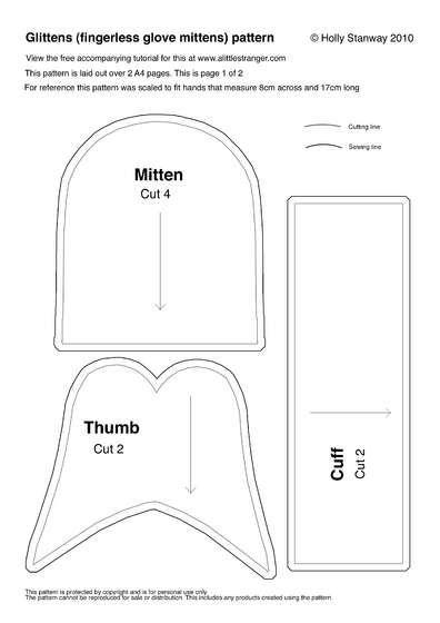 How to Make Glittens (fingerless Glove-mittens) | Handschuh und ...
