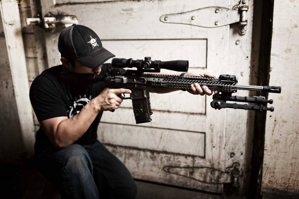 Judah rocking the Combat shooters SPR with Accu-Tac Bipod