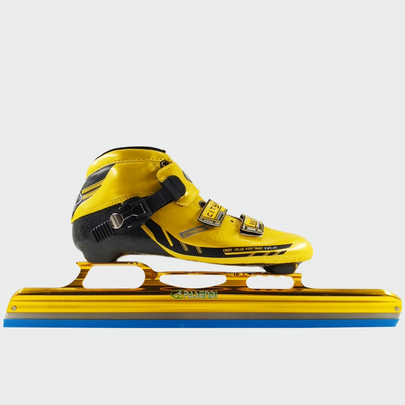 166.50$  Watch now - http://aliwpt.worldwells.pw/go.php?t=32761080560 - Adults Carbon Fiber Boots Speed skates ice blade Women/Men ice blade Long Track ice skating Kids Inline Roller Skate Shoes