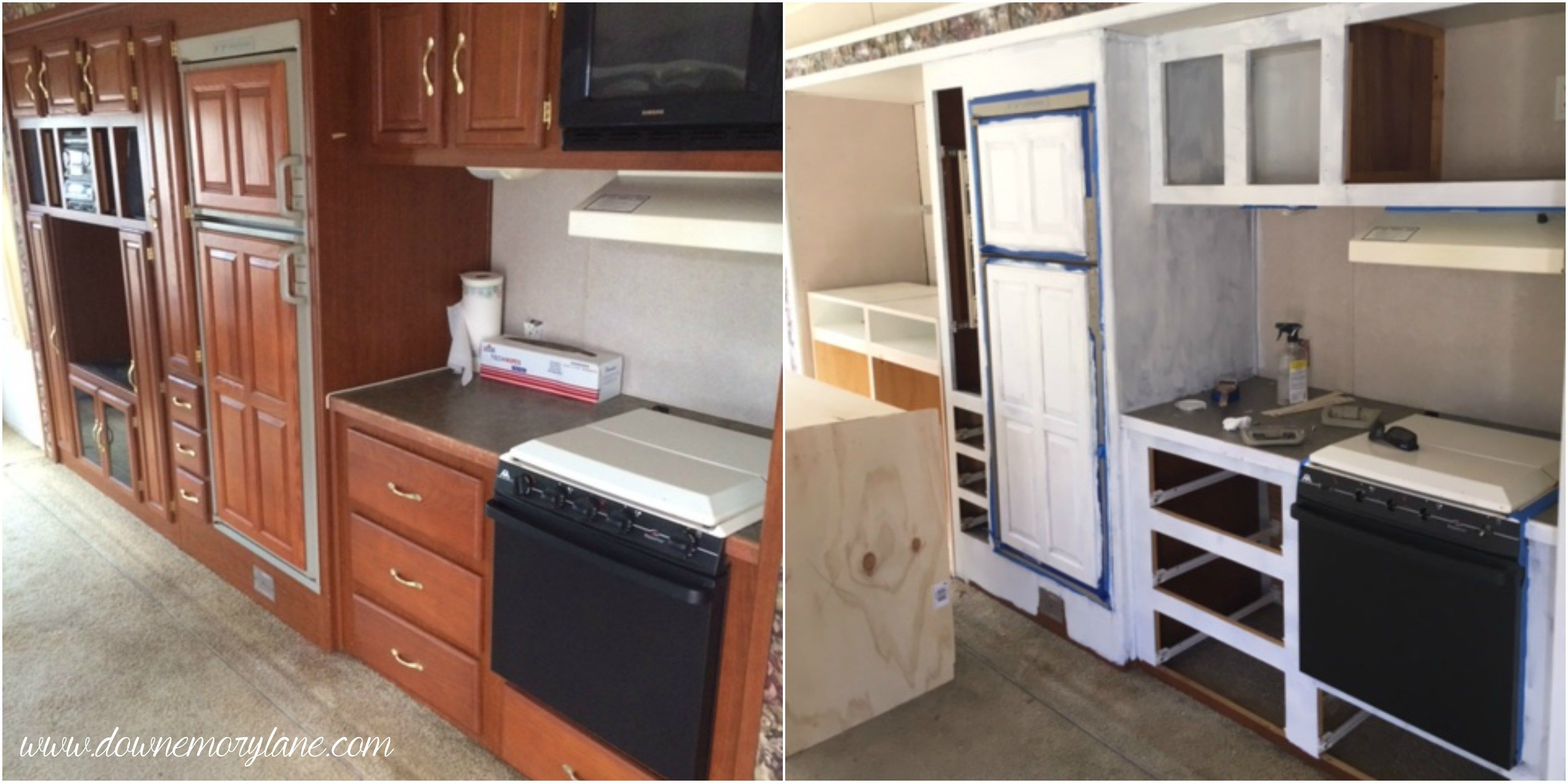 painting a camper interior renovating beautifying a fifth wheel