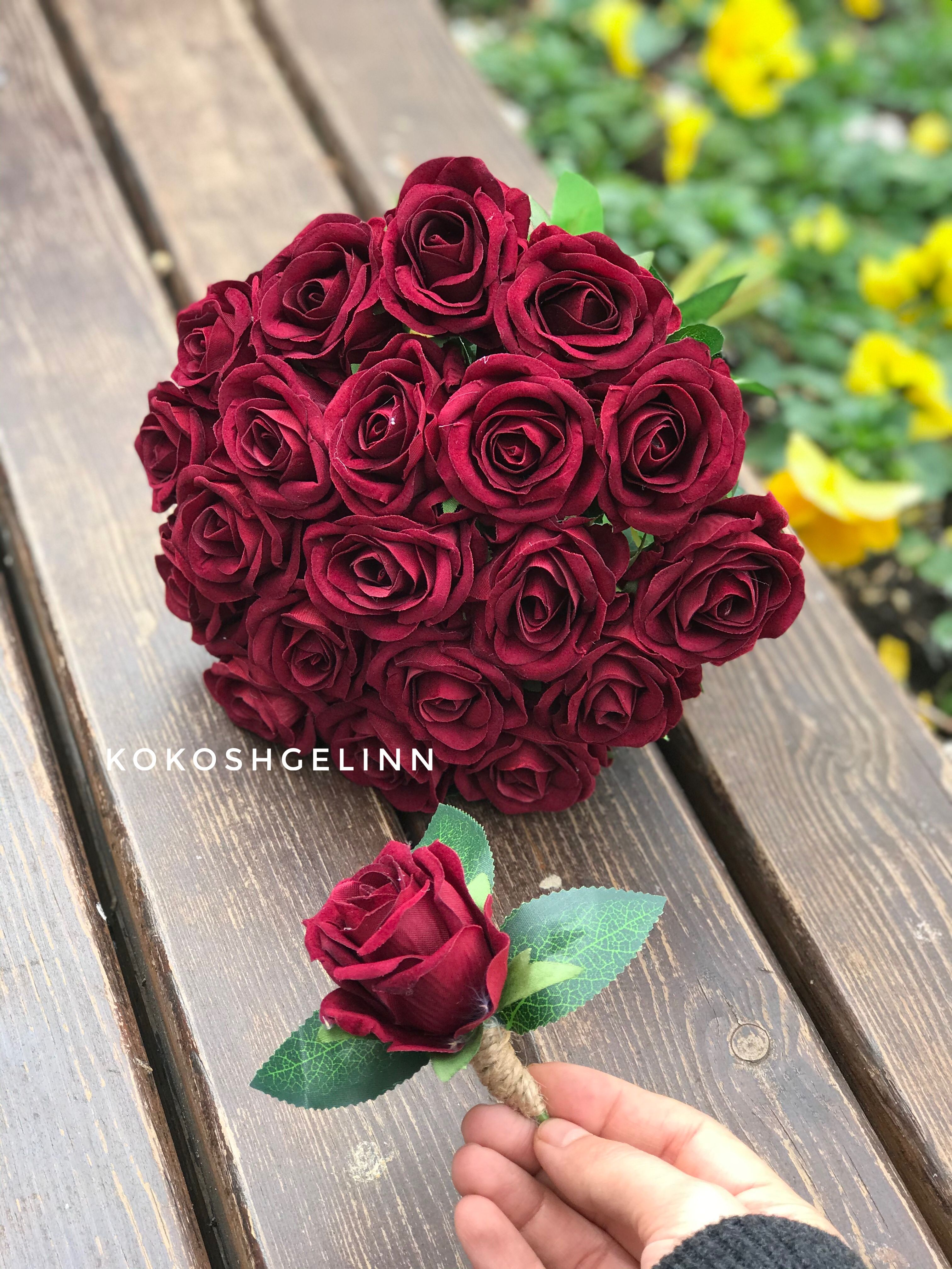 #gelinbuketi #gelinçiçeği #buket #çiçek #kırmızıgül