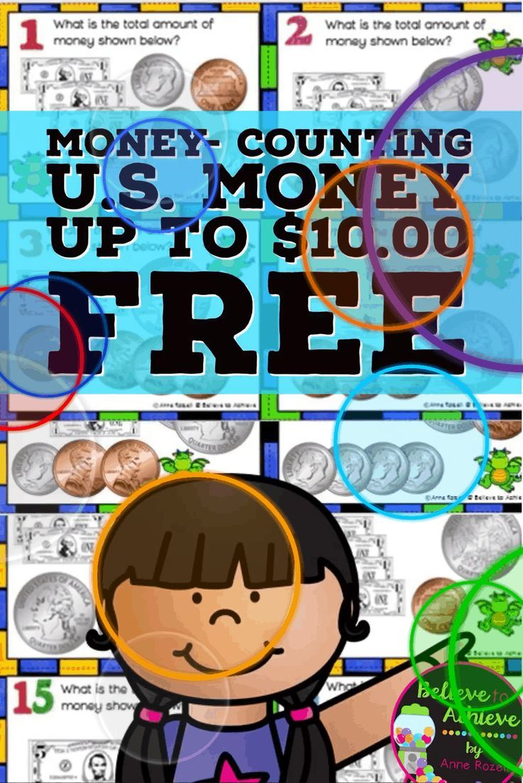 FREE- Money-Counting Coins and Bills up to U.S. $10.00 (24 Task ...
