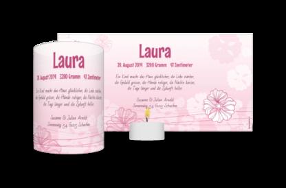 Leucht-Geburtskarte Laura