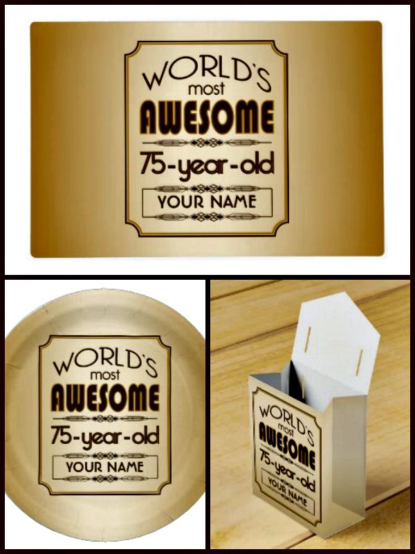 Worlds Most Awesome 75th Birthday Party Theme