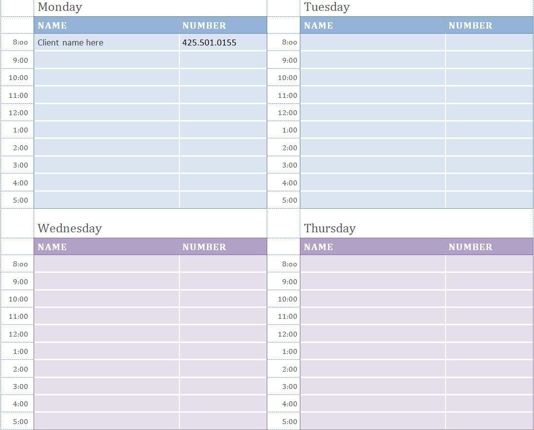 Free Printable Weekly Calendar Sheets