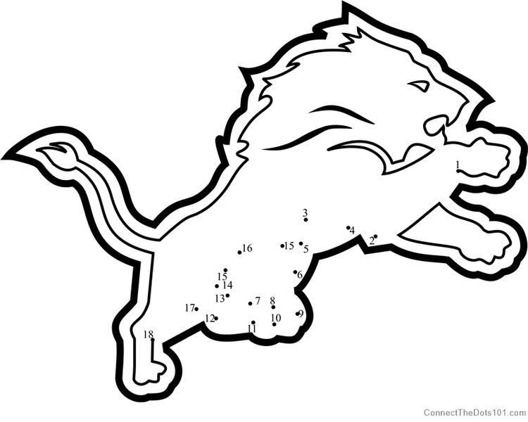 Detroit Lions Logos Dot To Dot in 2020 | Detroit lions ...