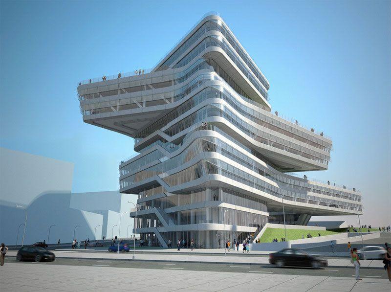 Torre Espiral de Zaha Hadid en Barcelona