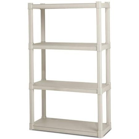 Utility Shelves Walmart Fair Sterilite 4 Shelf Unit Light Platinum  Walmart  Walmart Decorating Inspiration