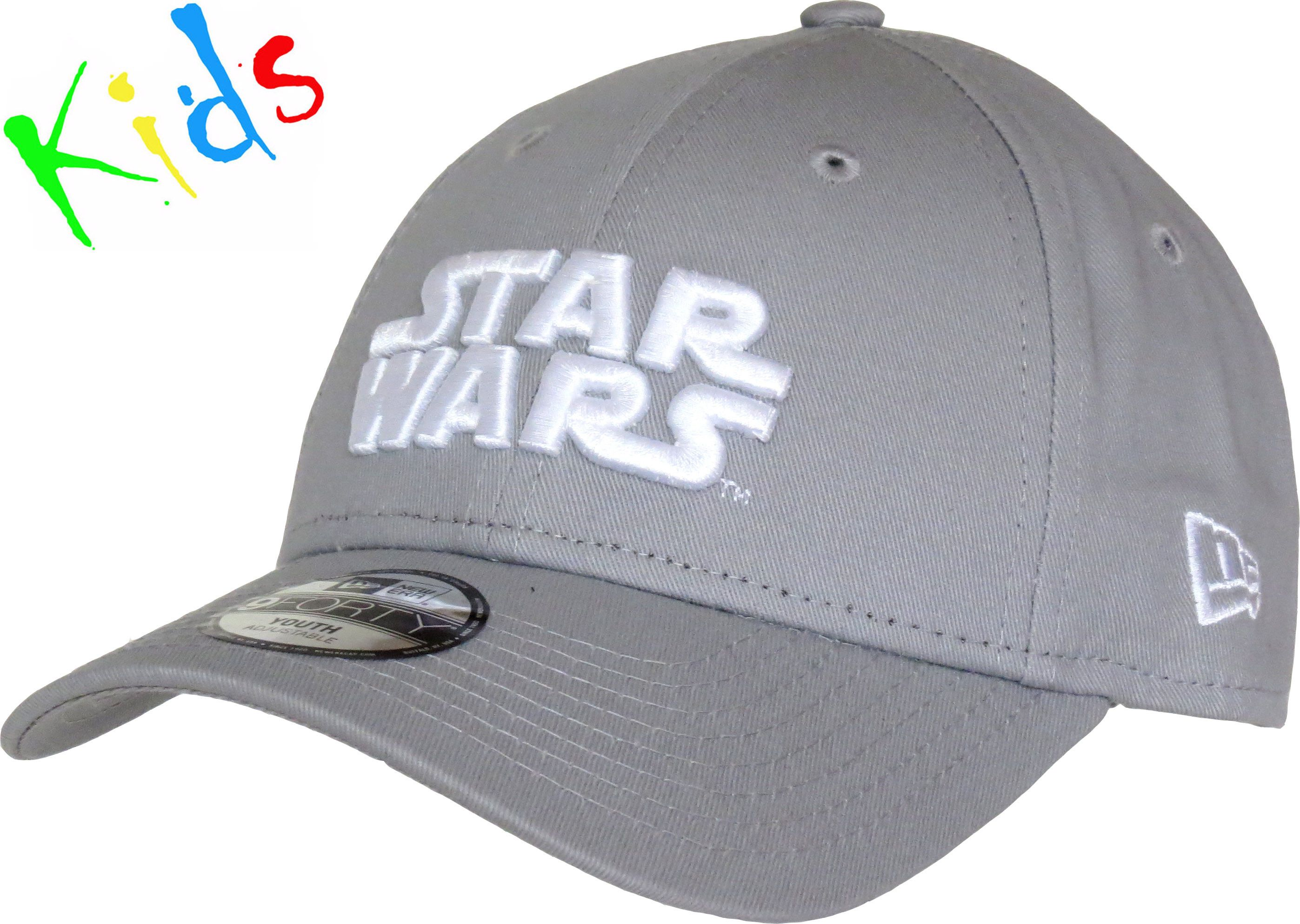 83b1940eb5c New Era Kids 940 Star Wars Essential Adjustable Baseball Cap. Grey with the  Star Wars