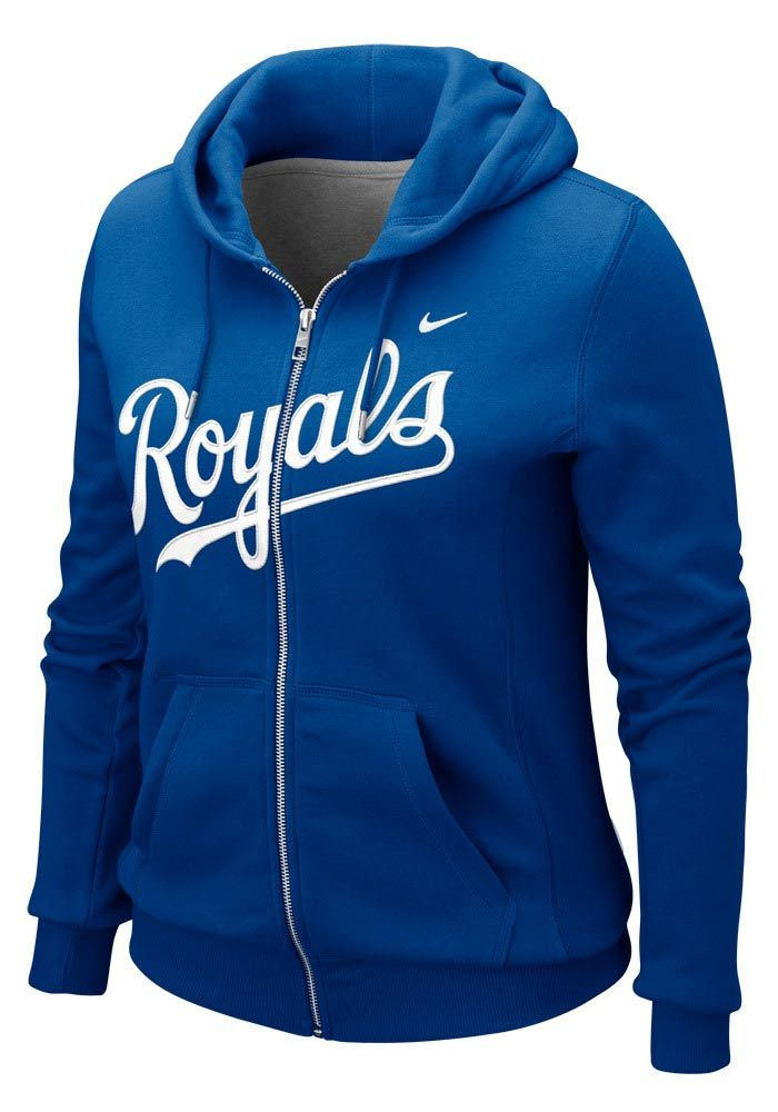 6bd07067012b Kansas City Royals Nike Womens Royal Classic Long Sleeve Full Zip ...