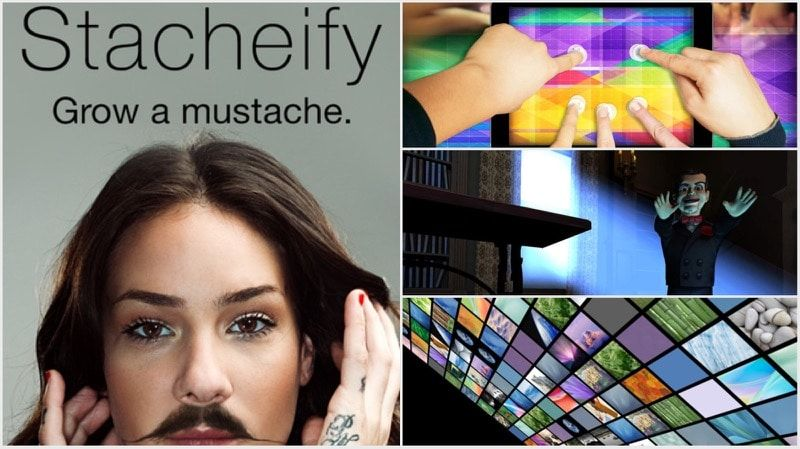 Stacheify Magic Touch Goosebumps Movingphotos3d Screeny And More App Sliced Goosebumps Growing A Mustache Magic