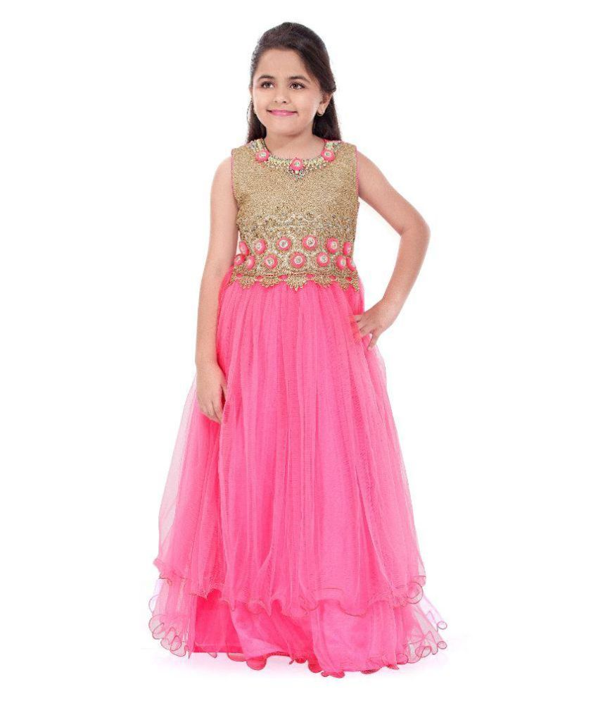 Betty Pink Polyester Gown For Girl #Gown #Wedding | Kids Choice ...