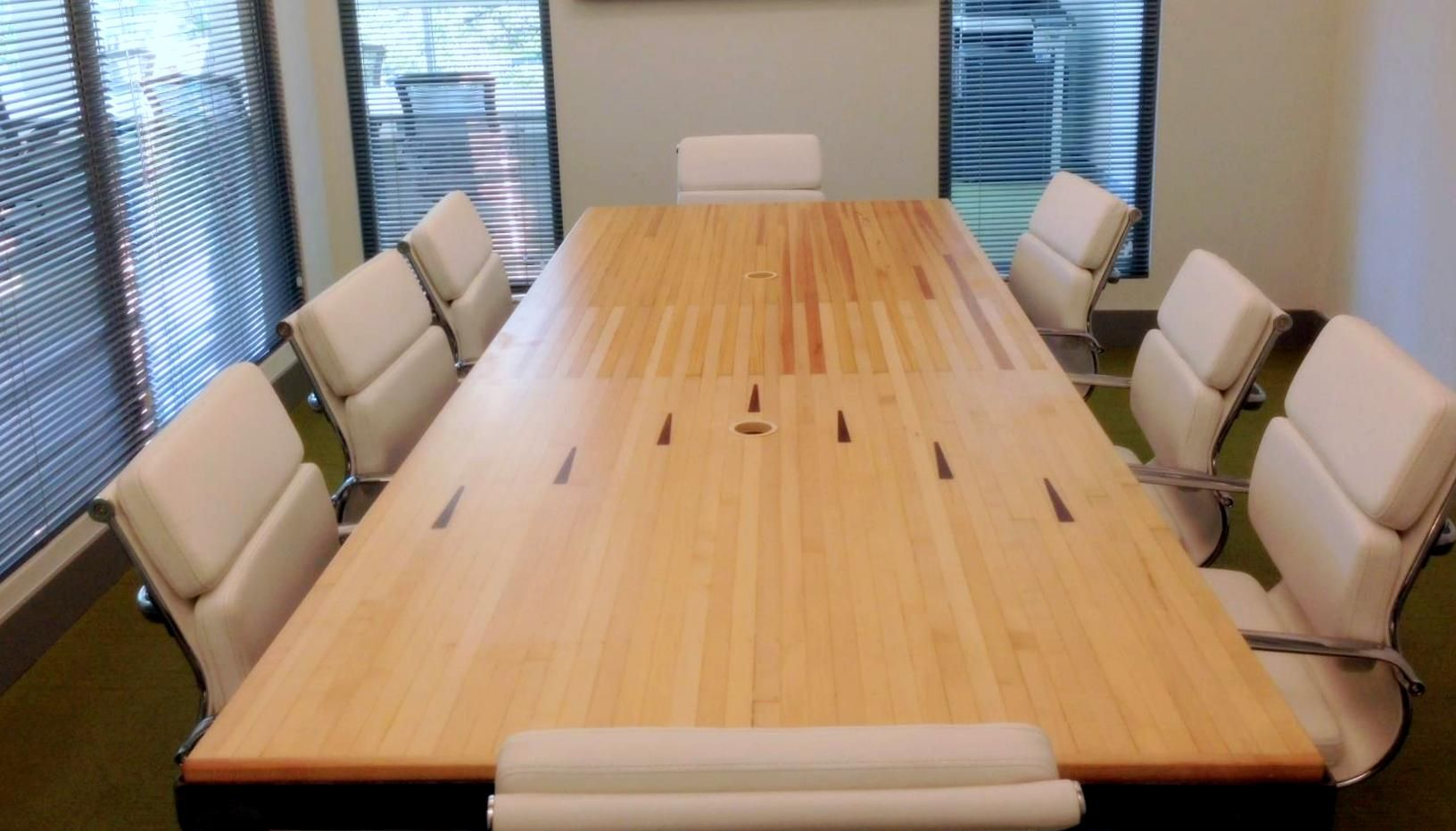 Reclaimed wood conference tables - The Ecojacks Team Built A Gorgeous Conference Table For The New South Beach Location Of B Ro