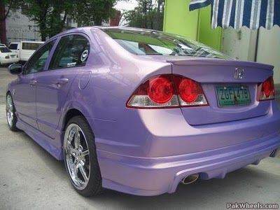Modified Honda Civic Reborn Purple ~ Modified Cars And Auto Parts