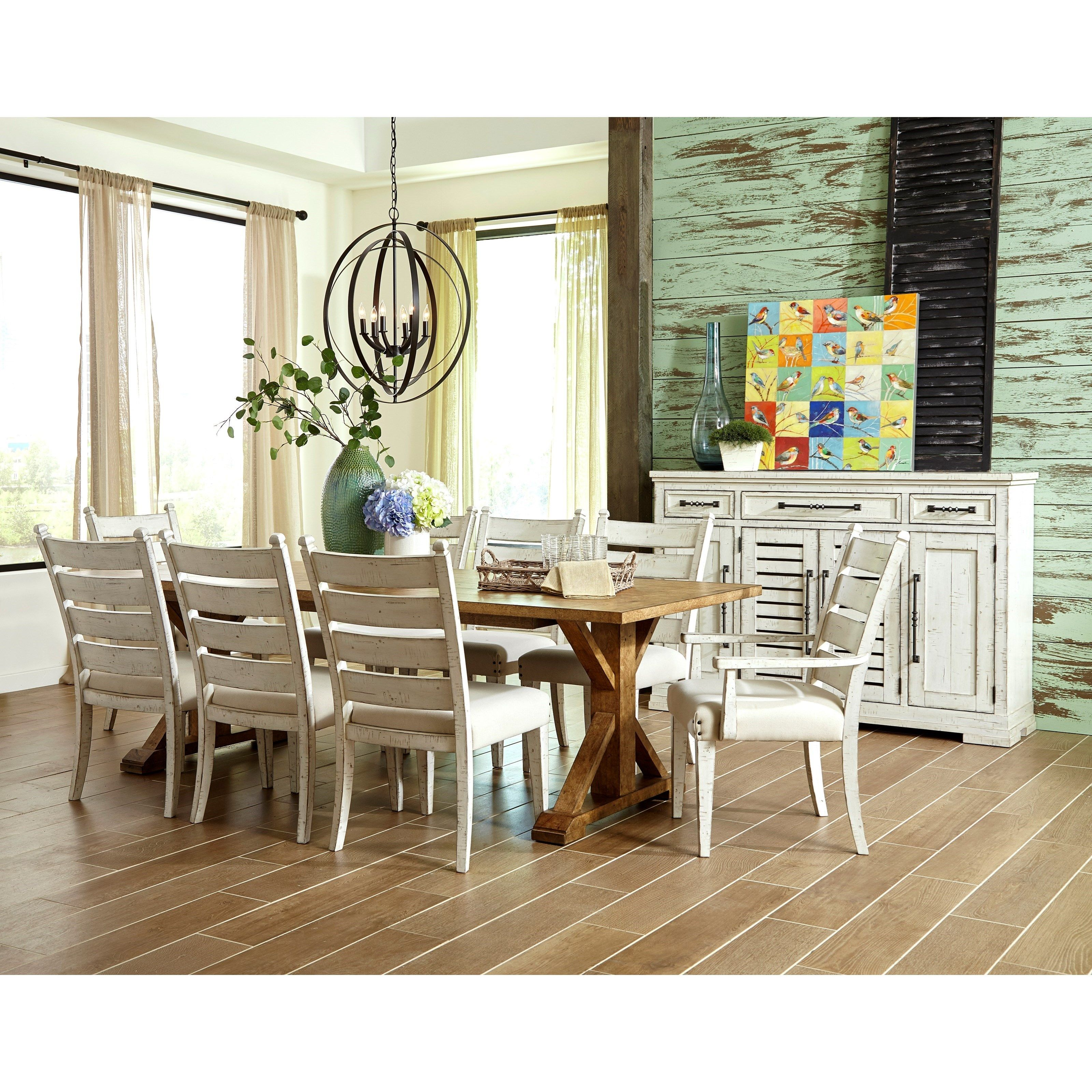 Cheap Formal Dining Room Sets: Coming Home Hospitality Server With Silverware Tray By