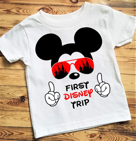 29a77c8d My First Disney Trip Mickey Mouse Avaitors Shirt, My First Disney ...