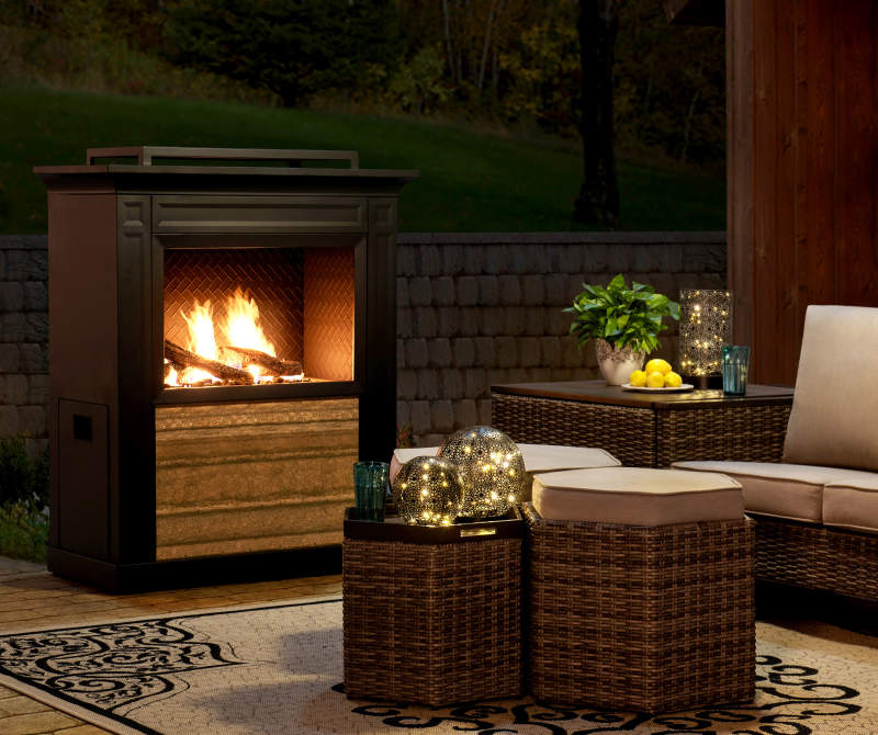 Wilson & Fisher Summer Ridge Outdoor Gas Fireplace Big