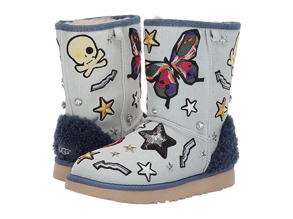 9b80f26bc8d UGG Patch It Classic Short Women's Shoes Bleach Denim   Products ...