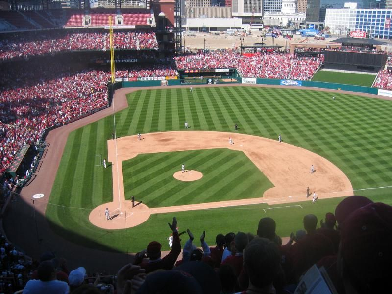 baseball game in st. louis