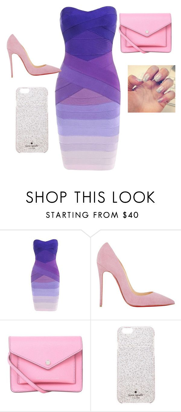 """""""I love it"""" by soniquebrowne ❤ liked on Polyvore featuring Christian Louboutin, Marc by Marc Jacobs and Kate Spade"""
