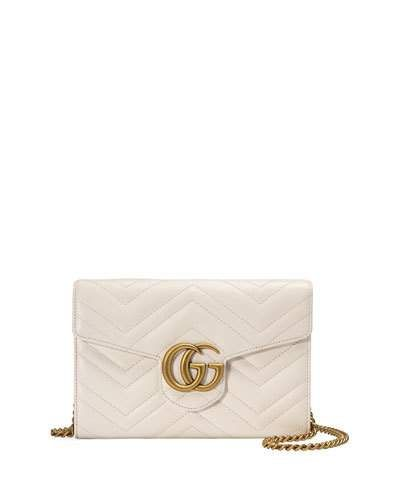 V32TU Gucci GG Marmont 2.0 Medium Quilted Wallet-on-Chain 1464076e99472