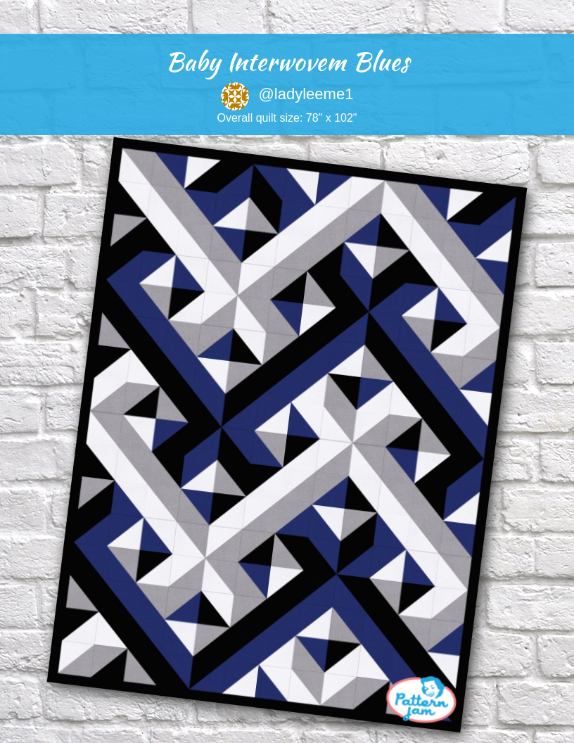 Baby Interwovem Blues In 2020 Quilts Modern Quilting Designs Custom Quilts