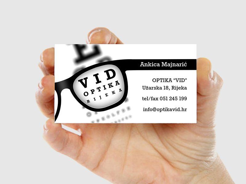 Optika Vid business card Design Biglietti Da Visita, Biglietti Da Visita,  Facciate Di Negozi 795e1ae7cd