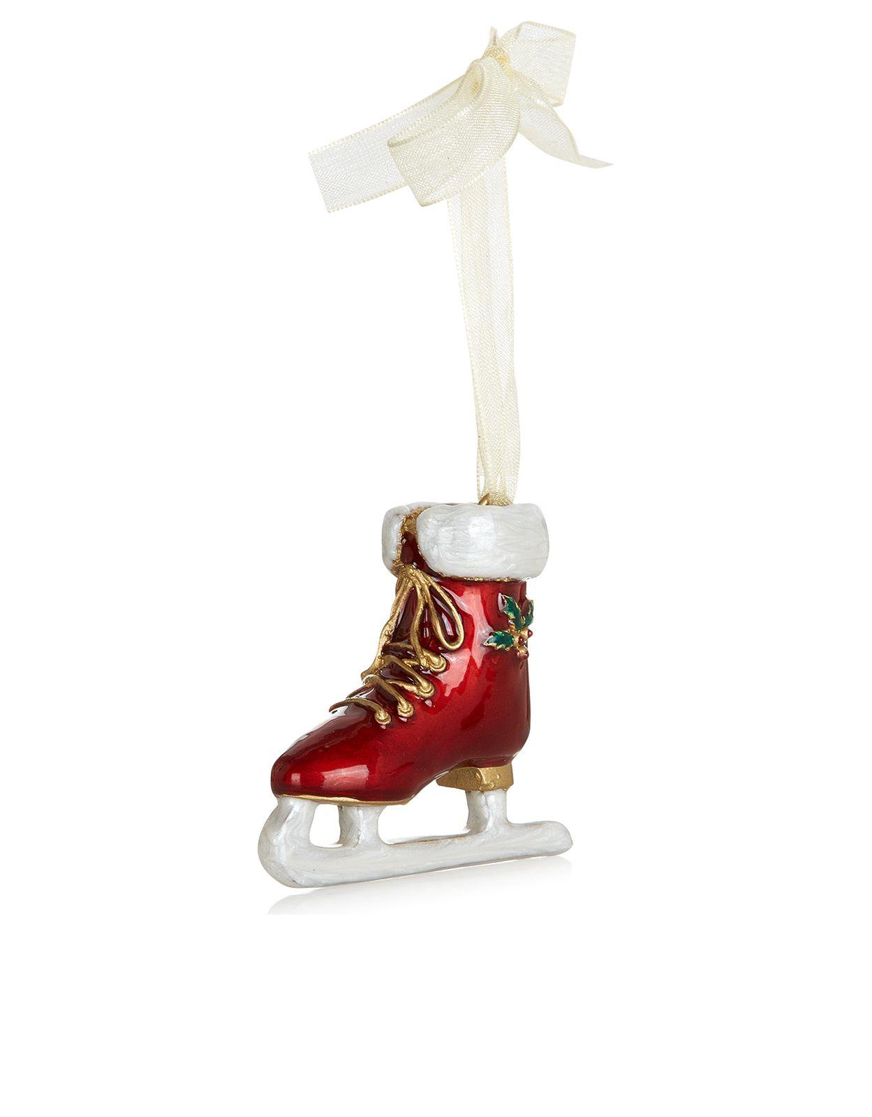 Enamel Ice Skate Dec | Christmas | Pinterest