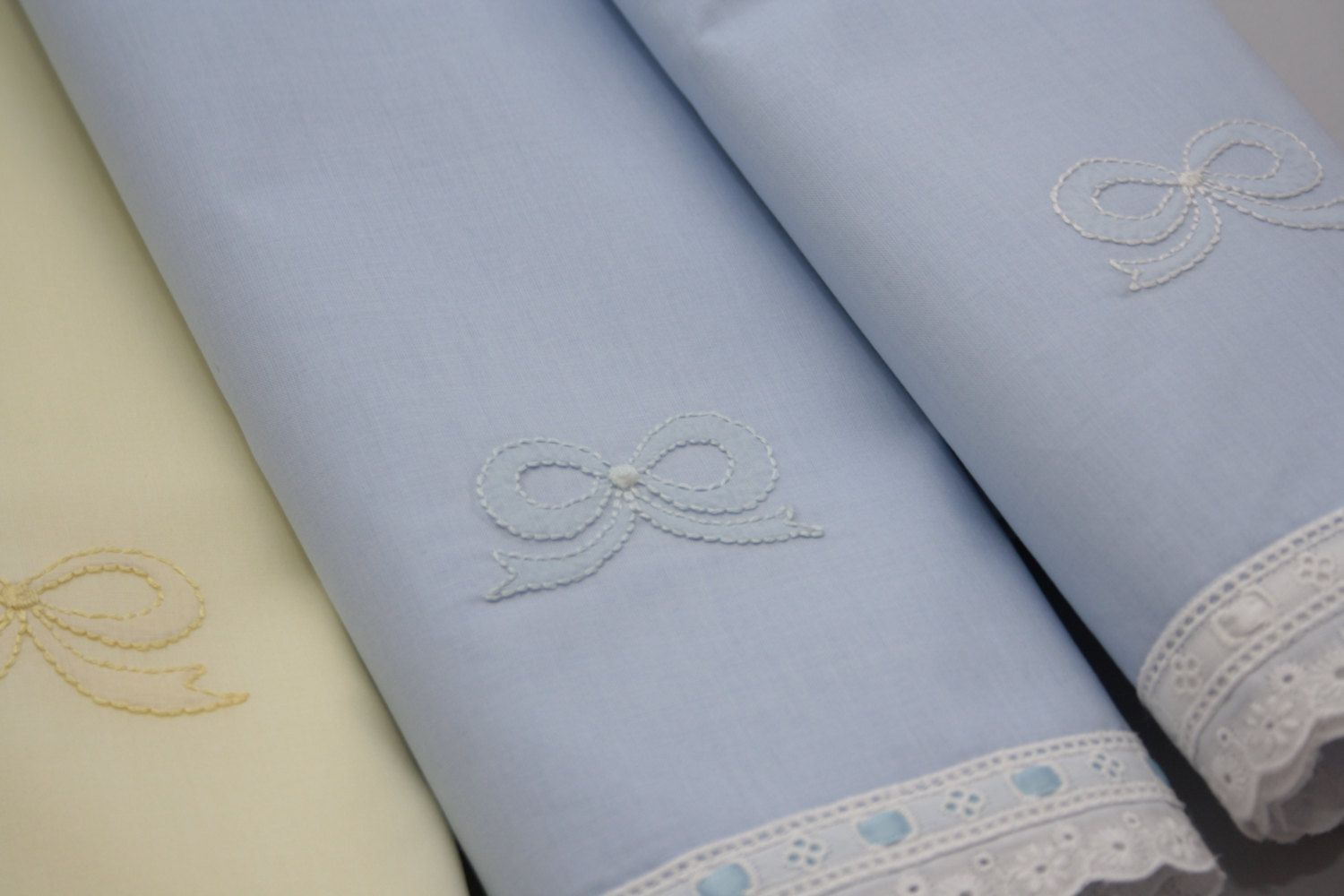 Pure cotton blue bassinet or crib sheet \