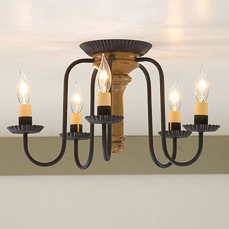 Wrought iron distressed wood ceiling light handcrafted 5 arm primitive wood ceiling light fixture distressed country farmhouse finish 5 arm wrought iron candelabra vintage white aloadofball Images