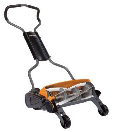 Fiskars 113880 Momentum Reel Mower Amazon Co Uk Garden Outdoors190euro Exc Shipment Our Terrace Reel Lawn Mower Best Lawn Mower Push Lawn Mower