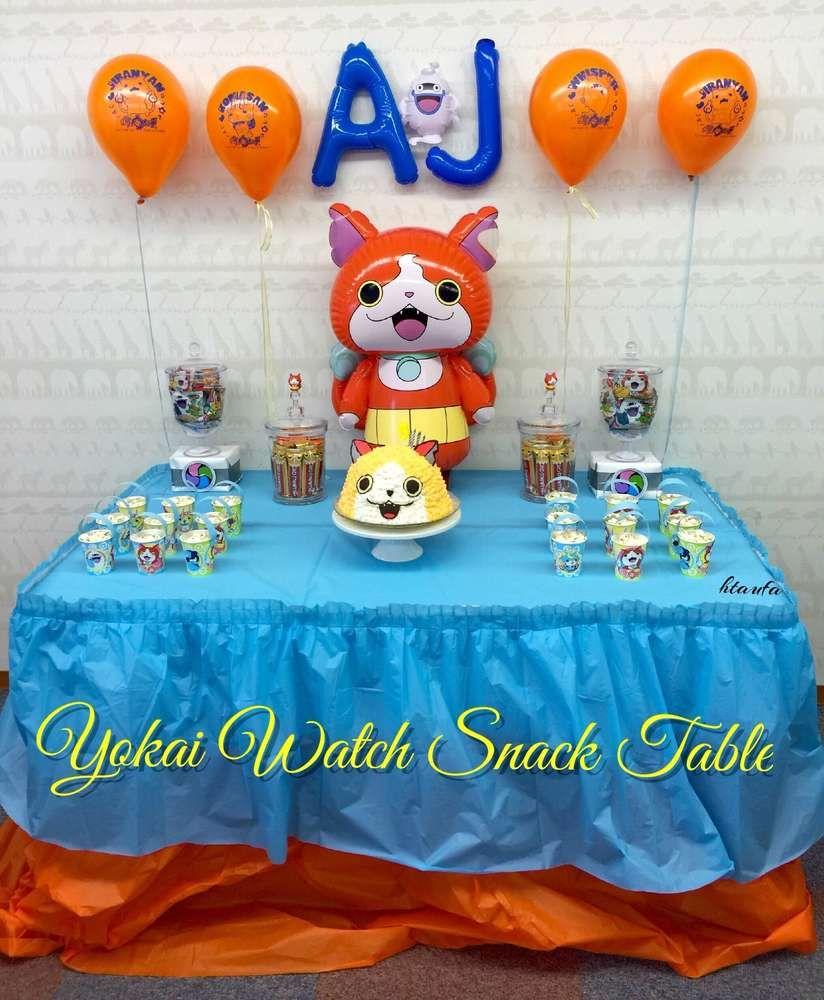 Decoration Yokai Watch Pour Anniversaire