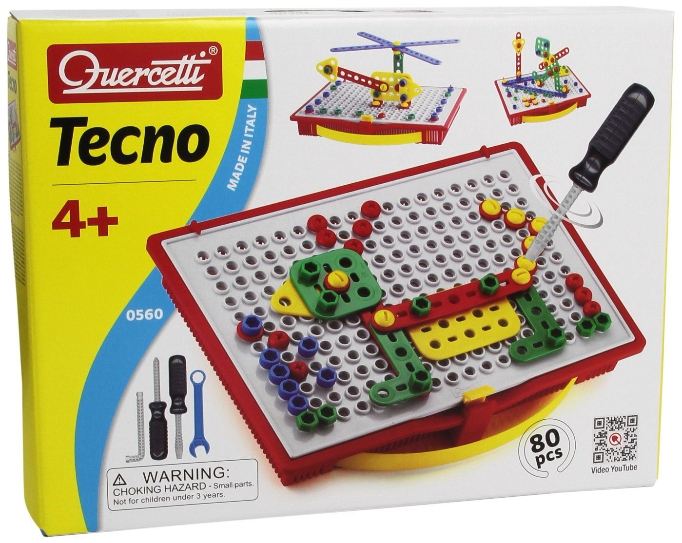 Amazon.com: Quercetti Tecno Building Toy: Toys & Games