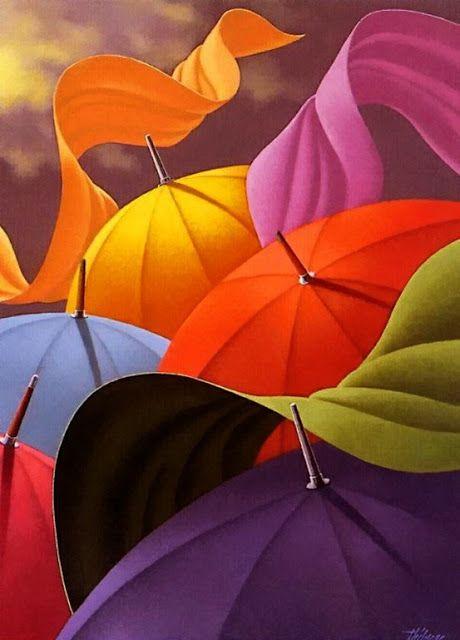 Johet Az Eso Umbrella Umbrella Art Colours