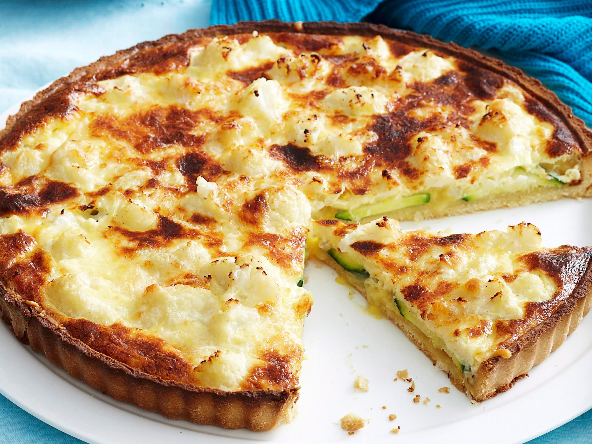 Cauliflower And Corn Quiche Egg Recipe Brought To You By Woman S Day Quiche Recipes Cauliflower Recipes