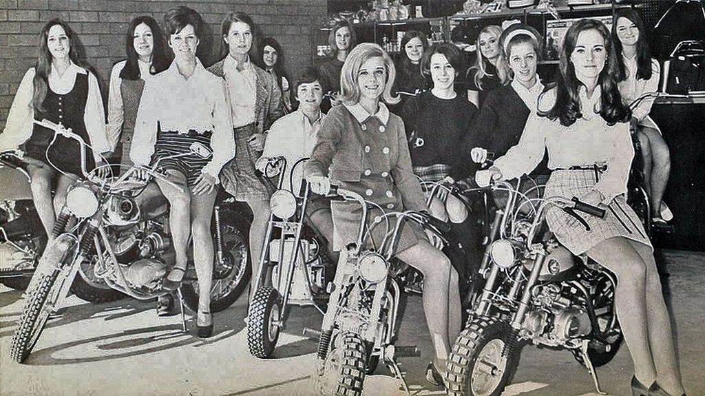 Vintage Photos of Girls in Mini Skirts on Bikes | Motercycles ...