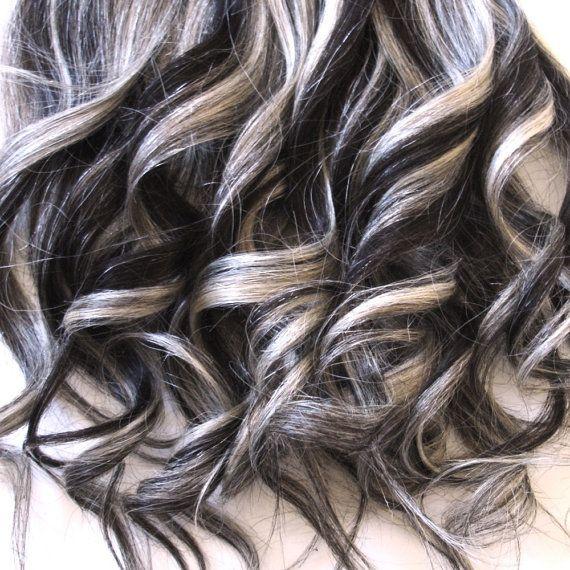 Hair Extensions 2 613 Darkest Brown Platinum Blond By Ikic Brown Hair With Blonde Highlights Dark Brown Hair With Blonde Highlights Brown Hair With Highlights