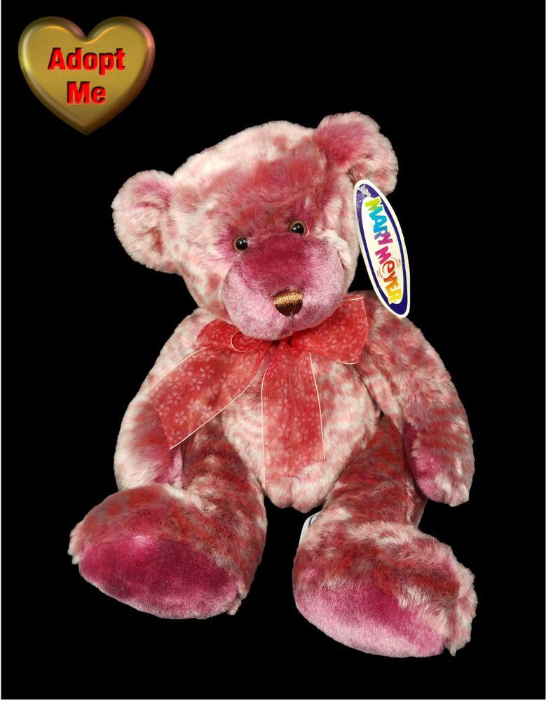 Mary Meyer Sugar Plum Purple Pink Striped Teddy Bear Toy
