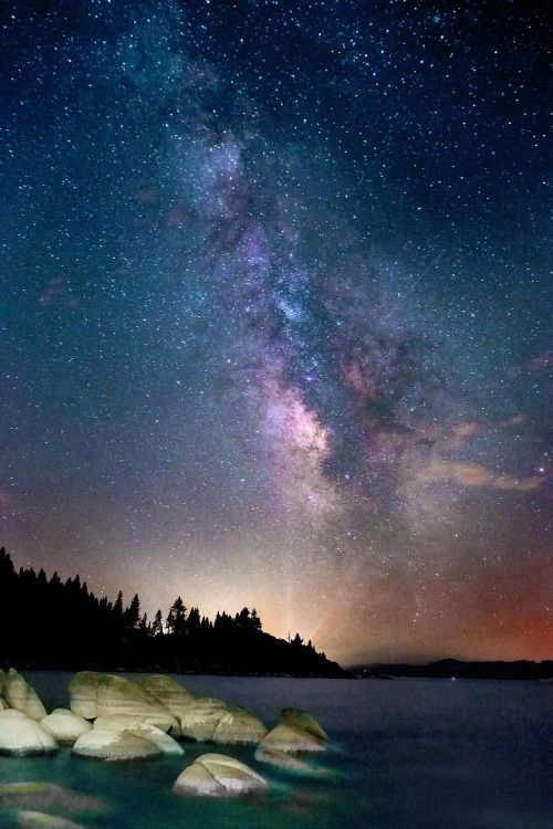 Starry Lake Tahoe, California.  js