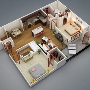 Delightful Simple House Designs 2 Bedrooms As Bedroom Apartmenthouse Plans