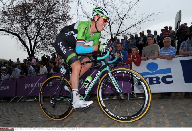 Gent-Wevelgem 2014 - Lars Boom (Belkin) with tape over his injured elbow