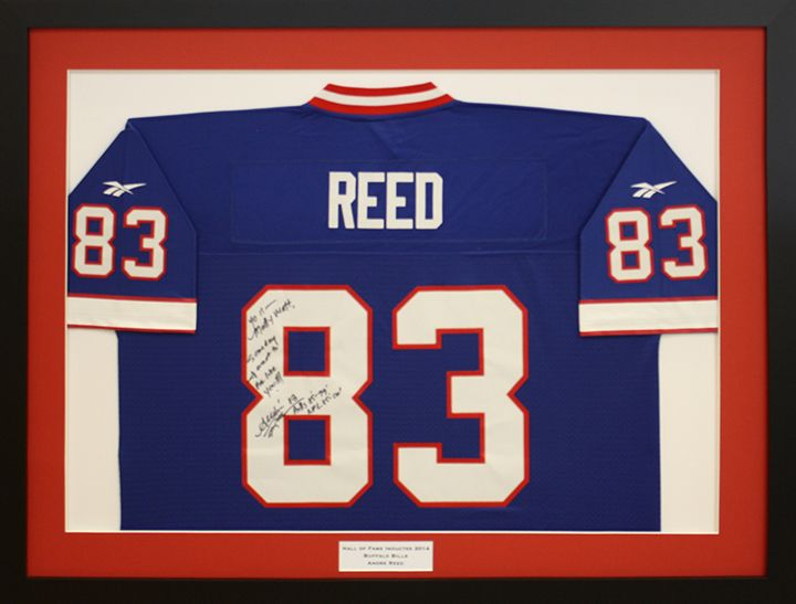 Custom Football jersey signed by Andre Reed of the Buffalo Bills ...