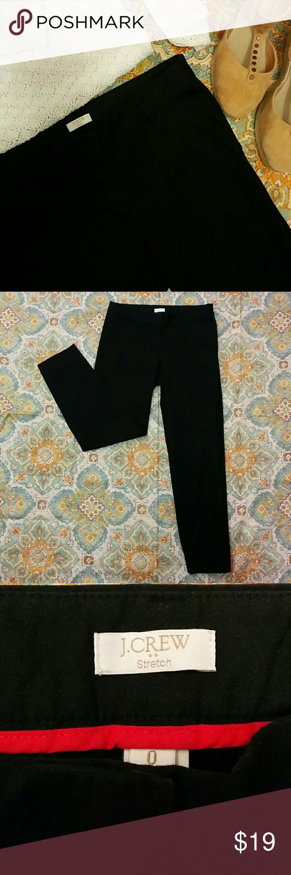 "J. Crew Crop Trousers Black crop trousers. 98% Cotton 2% Spandex. 26"" inseam. J. Crew Pants Trousers"