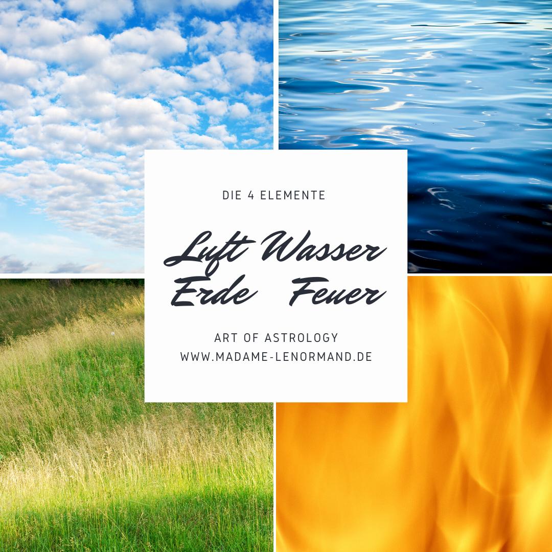 Die 4 Elemente Erde, Feuer, Wasser, Luft #Astrologie #
