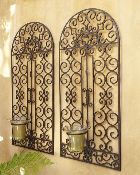 Outdoor Hurricane Wall Panel | Wrought iron fences, Door entry and Lanai