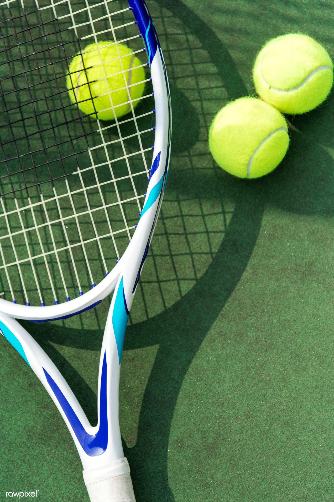 Download Premium Image Of Tennis Balls On A Tennis Court 413593 Tennis Balls Tennis Racket Tennis Wallpaper