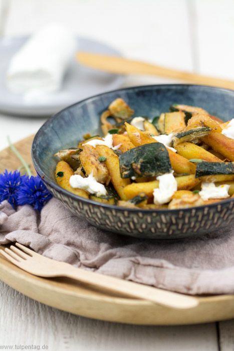 Schupfnudeln mit Zucchini und ZiegenFrischkäse