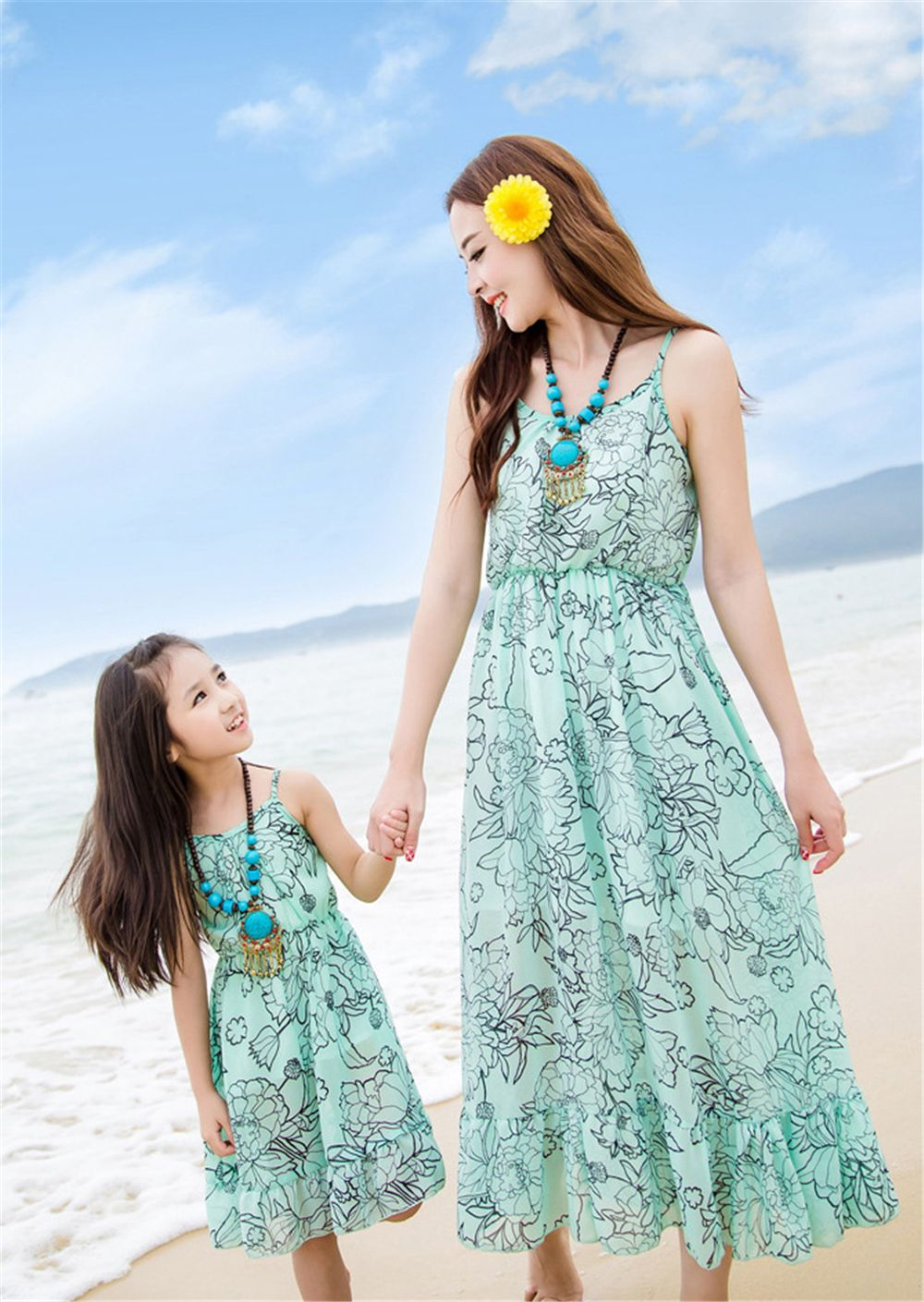 28fcedcf62d70 Mom and Daughter Dress Matching Mother Daughter Dresses Clothes ...