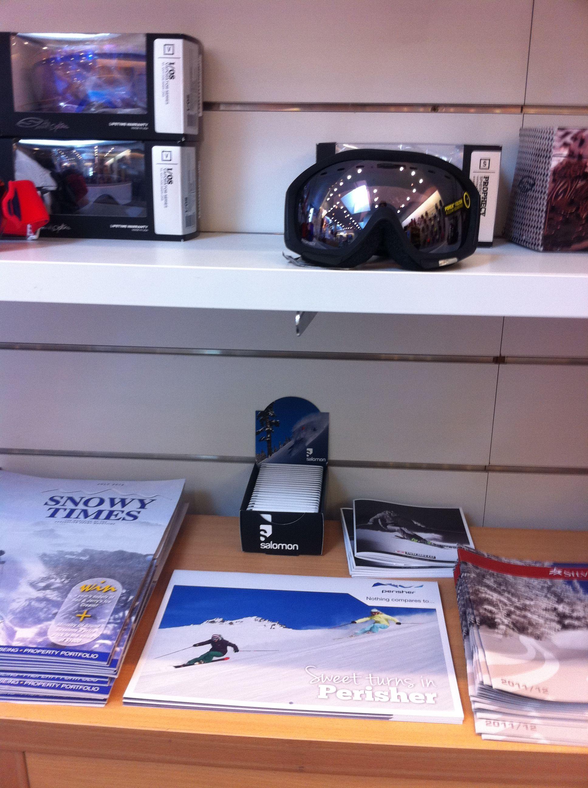 Spotted! Salomon Z-CARDs on shelves at Ski Barn in Drummoyne.