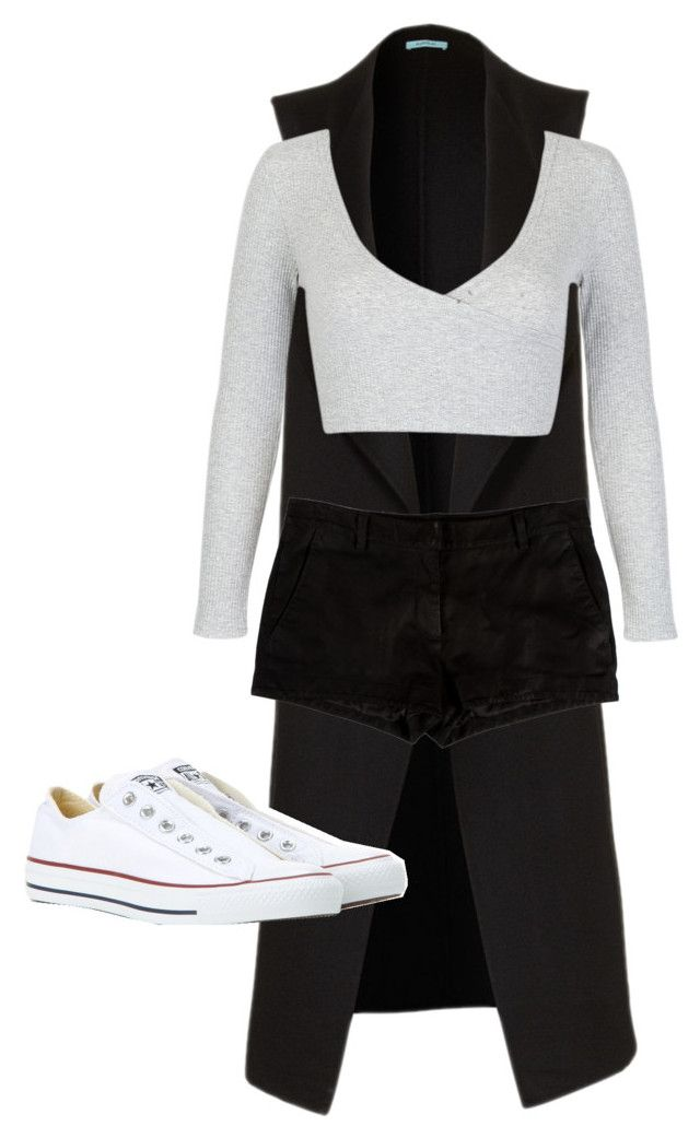 """""""Sin título #7"""" by eylinperezg on Polyvore featuring moda, Converse, L'Agence y WithChic"""